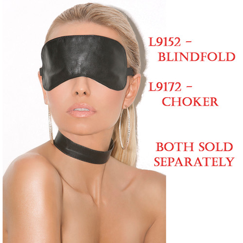 Leather Blindfold (L9252) Sold on this page.  The Choker (L9172) is sold separately