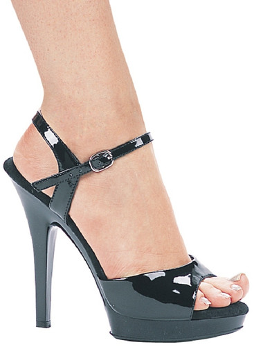 "Classic 5"" Heel Sandal in Black - Sizes 5-12"