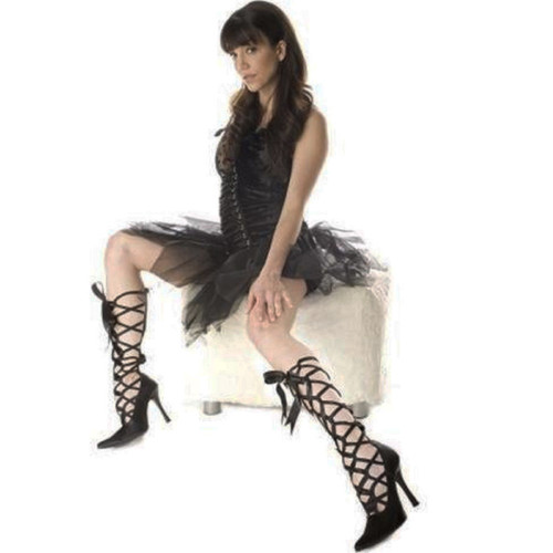 """4"""" Satin Heel Shoe with Ribbon Laceup and Back Zipper - SALES PRICE - Sz 7-9 Only"""