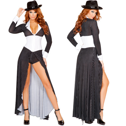 2 pc Mafia Mamma Costume - Sm to Lg - Genuine Roma Product