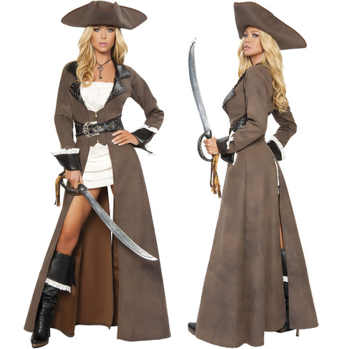 Deluxe Pirate Costume - Front & Back - © 2016 Roma Costumes, Inc.