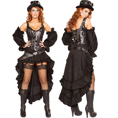 Sexy Steampunk Maiden - Front / Back -  © 2016 Roma Costumes, Inc.