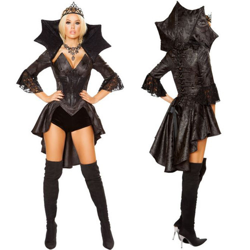 4 Pc Queen of Darkness Costume - Small - Large - Genuine Roma Product