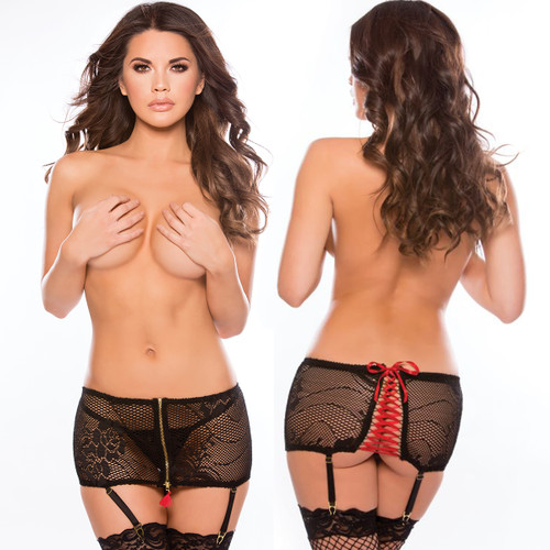 Mini Garter Skirt w G-String