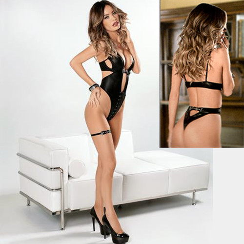 Teddy w Thong Style Cut Out Bottom