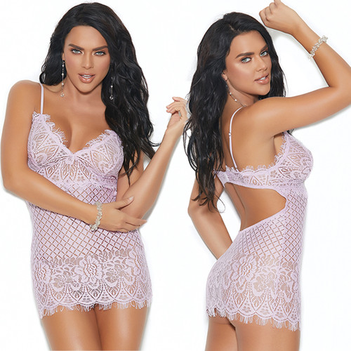 Diamond Design Babydoll w Matching G-String