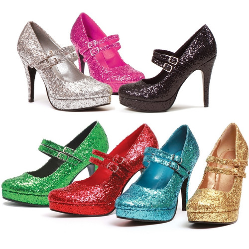 "4"" Heel Glittery Pump - is available in 6 colors"