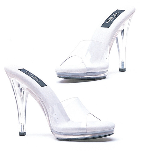"Clear 4"" Heel Mule Shoe"