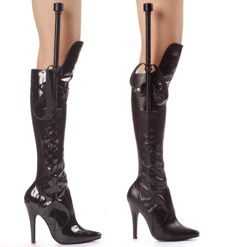 """5"""" Stiletto Knee High Boot with Whip - Sizes 6 - 14"""
