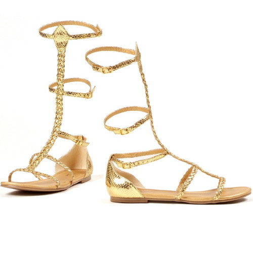 Flat Sandal with Ankle Straps