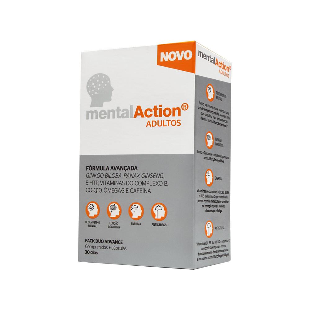 MentalAction Adultos 30 comp + 30 cáps