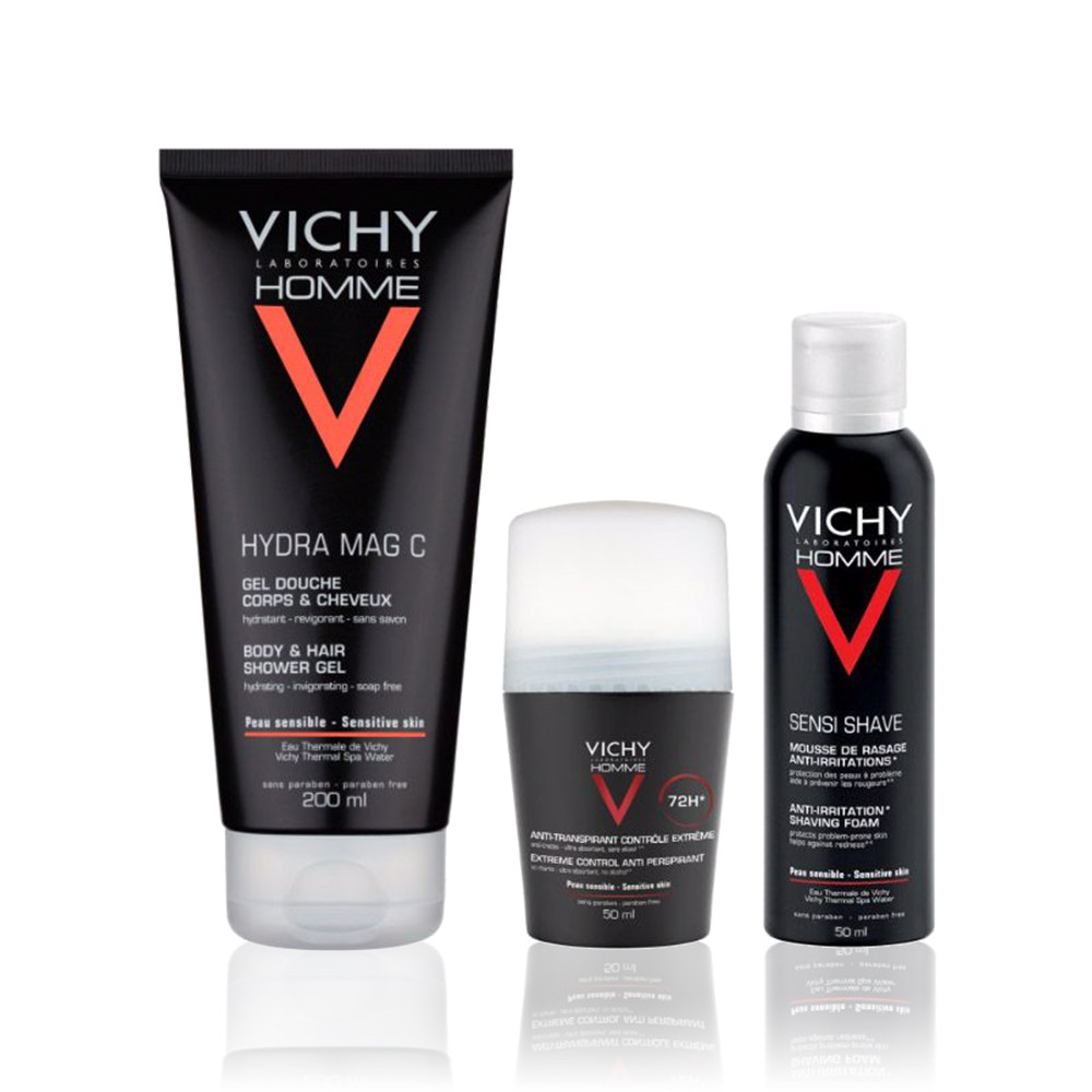 Vichy Homme Coffret Deo & Gel
