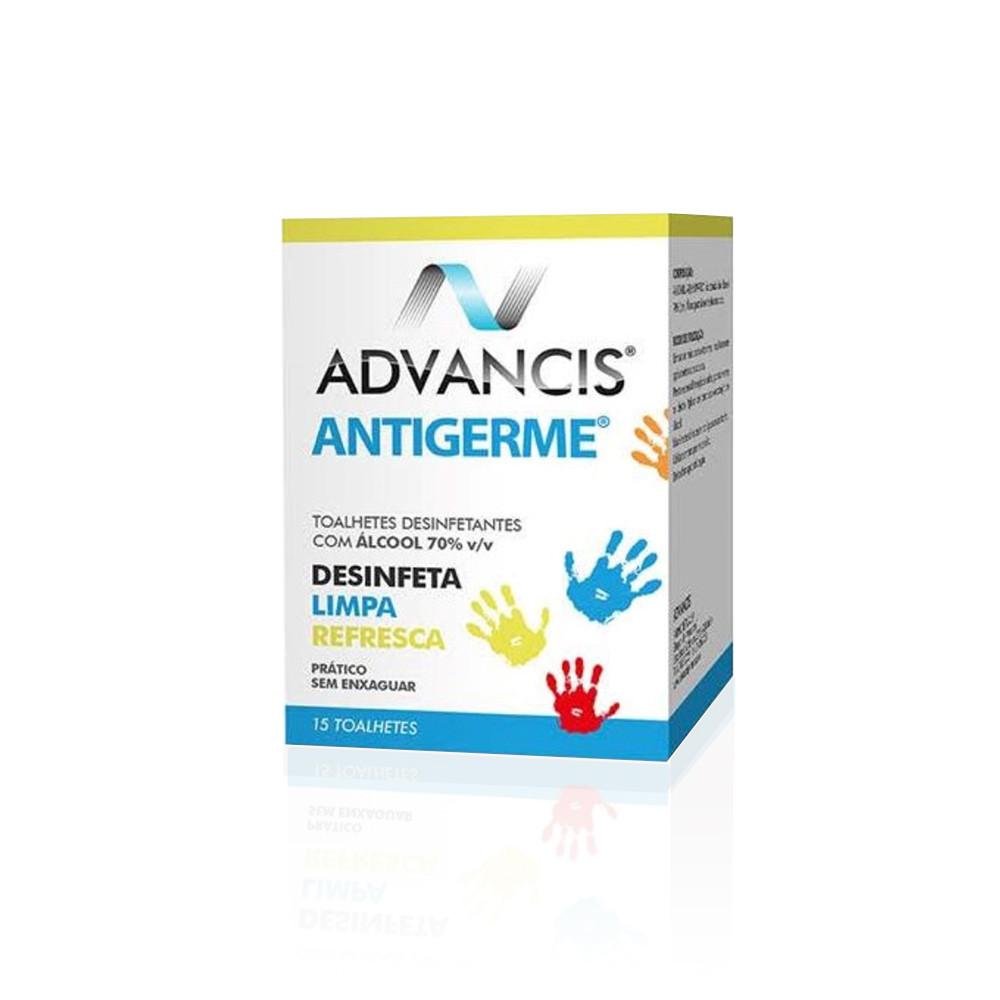 Advancis Antigerme Toalhetes Desinfetantes 15 un