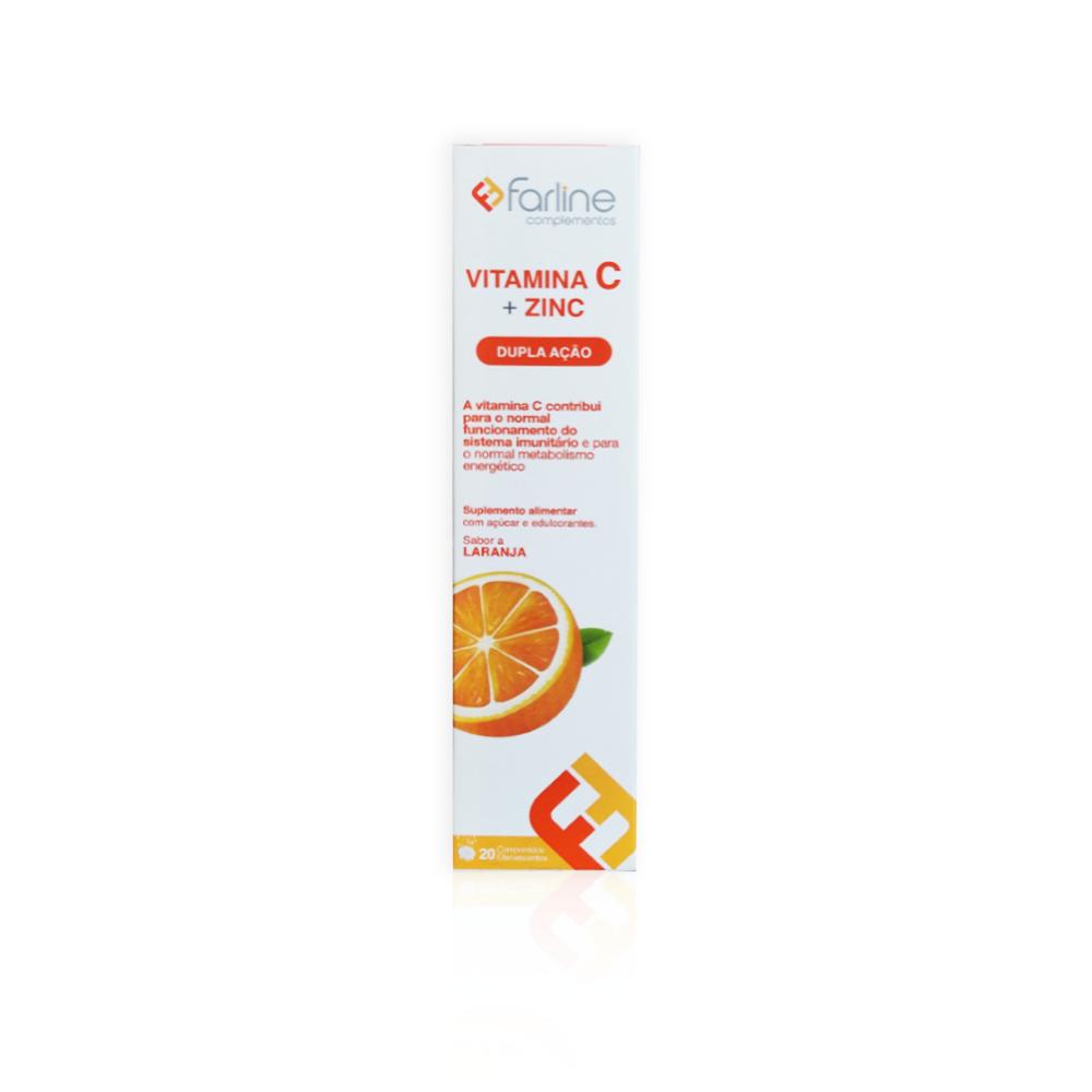 Farline Vitamina C + Zinco 20 Comprimidos Efervescentes
