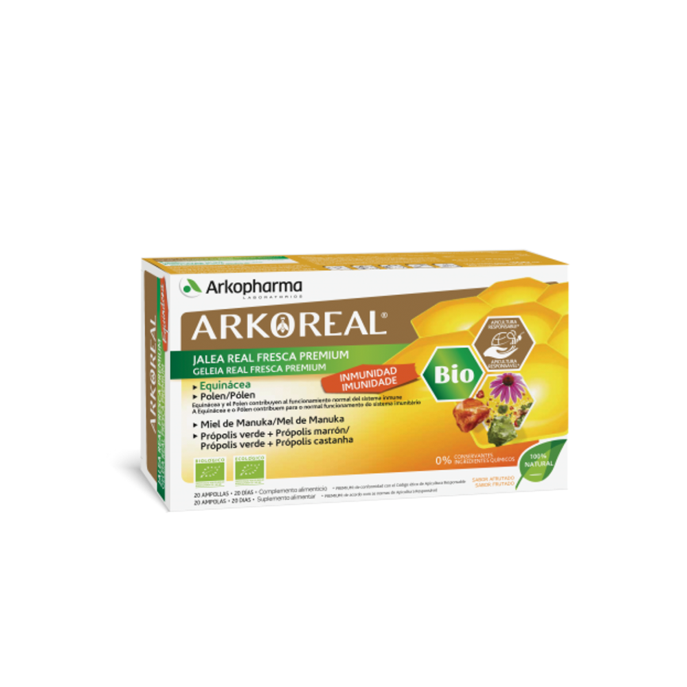 Arkopharma Arkoreal Geleia Real Imunidade Bio 20 Ampolas