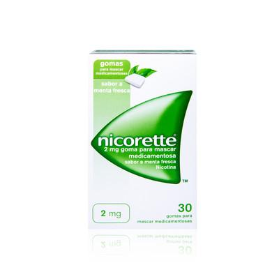Nicorette 2 mg Menta Fresca 30 Gomas