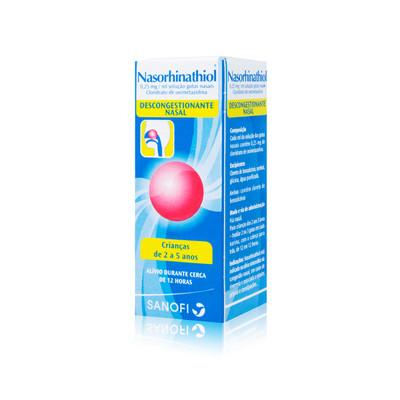 Nasorhinathiol 0,25 % Gotas Nasais 15 m