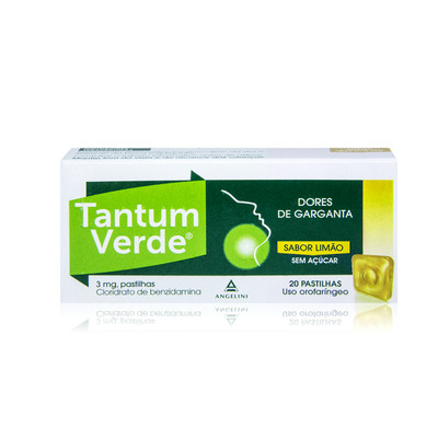 Tantum Verde Limão S/Açúcar 20 Pastilhas