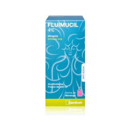 Fluimucil 4% Solução Oral 200 ml