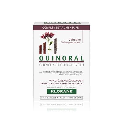 Klorane Quinoral Suplemento Alimentar Antiqueda Cápsulas