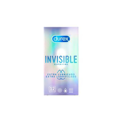 Durex Invisible Extra Lubrificado Preservativos 12 un