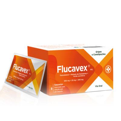 Flucavex 500 mg + 25 mg + 200 mg 8 Saquetas