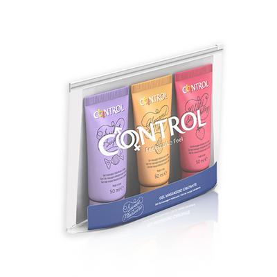Control Sweet Pleasure Kit Gel Massagem 3 x 50 ml