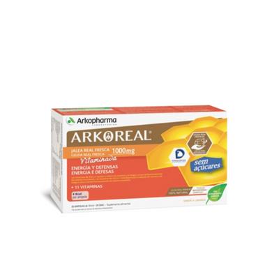 Arkopharma Arkoreal Geleia Real Vitaminada Sem Açucar 20 Ampolas