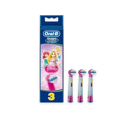 Oral-B Stages Princesas Recarga Escova de Dentes Elétrica 3 un