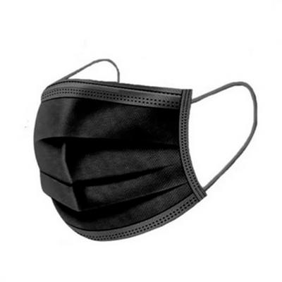 Máscaras Cirúrgicas c/Elástico Preto 50 un