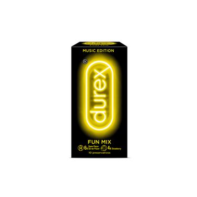 Durex Music Fun Mix Preservativos 10 un