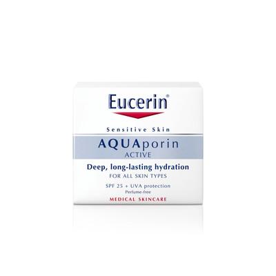 Eucerin AQUAporin Active com SPF25 e Protecção UVA para Todos os Tipos de Pele 50 ml