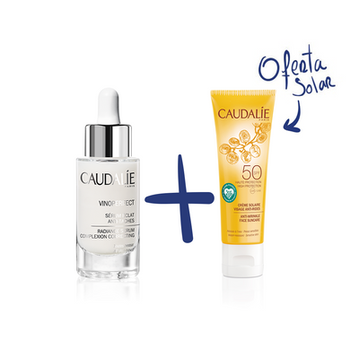 Caudalie Coffret Vinoperfect Sérum Luminosidade Anti-Manchas 30 ml + OFERTA Solar