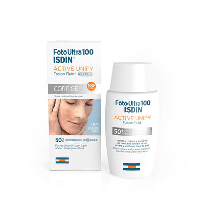 Isdin FotoUltra 100 Active Unify Fusion Fluid Sem Cor SPF50+ 50 ml