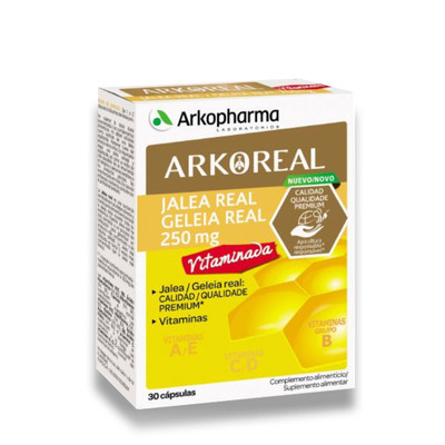 Arkopharma Arkoreal Geleia Real 250 mg Vitaminada 30 cáps
