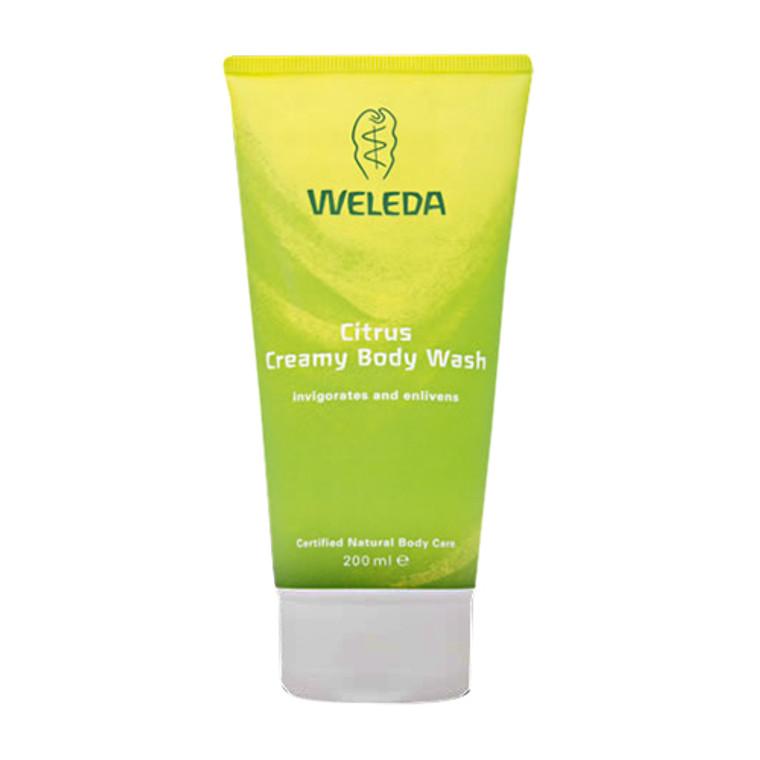 Weleda Invigorating Body Wash, Citrus Creamy - 6.8 Oz