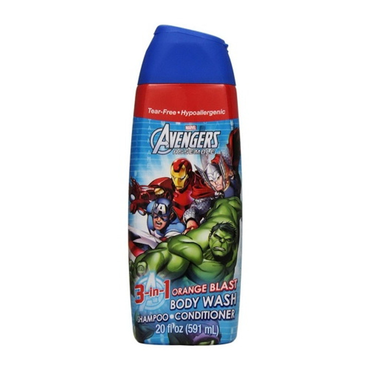 Avengers Body Wash 3-In-1 20oz Supercharge Cherry, 20 Oz
