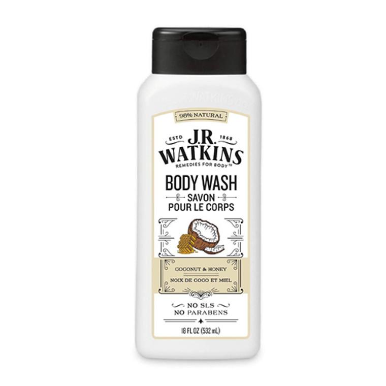 JR Watkins Daily Moisturizing Coconut Milk and Honey Body Wash, 18 Oz
