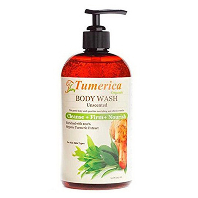 Tumerica  Body Wash Unscented For All Skin Types, 15 oz