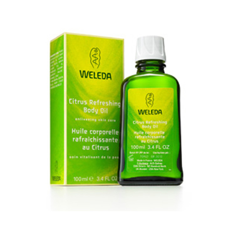 Weleda Citrus Refreshing Enlivening Skin Care Body Oil - 3.4 Oz