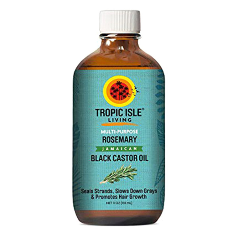 Tropic Isle Living Jamaican Black Castor Oil With Rosemary, 4 Oz