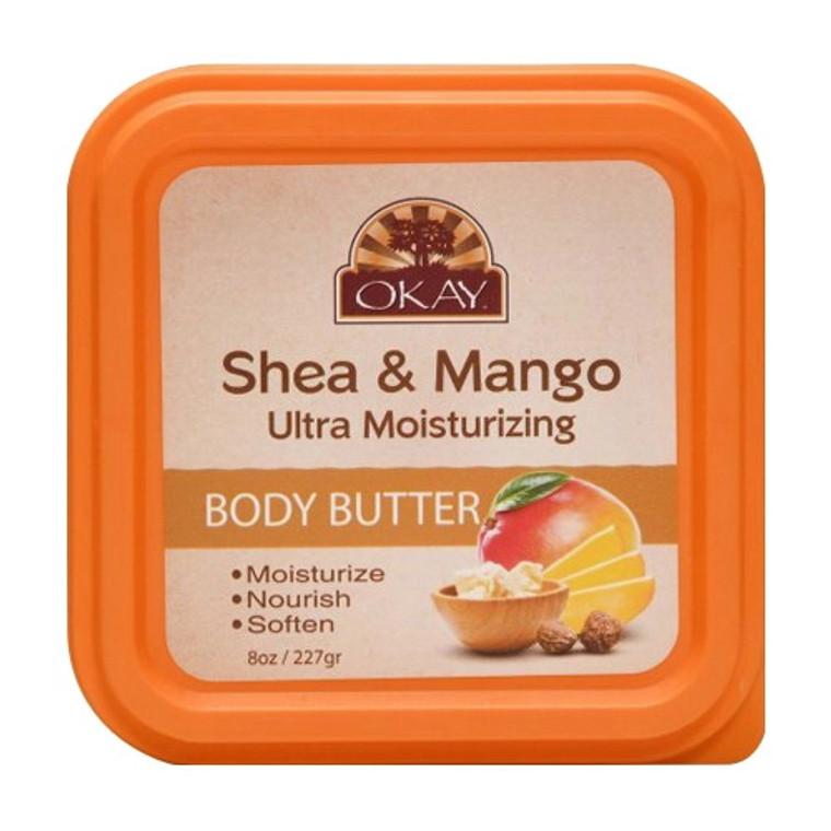 Okay Shea And Cherry Blossom Ultra Moisturizing Body Butter, Moisturize, Nourish And Soften, 8 oz