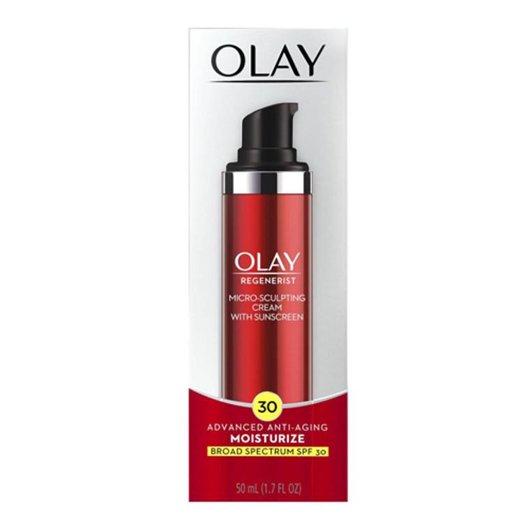 Olay Regenerist Micro Sculpting Cream Sunscreen Spf 30, Face Moisturizer, 1.7 Oz