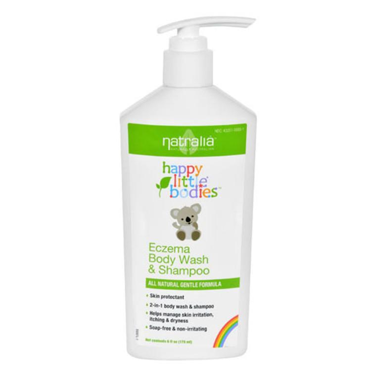 Natralia Happy Little Bodies Eczema Body Wash And Shampoo, 6 Oz