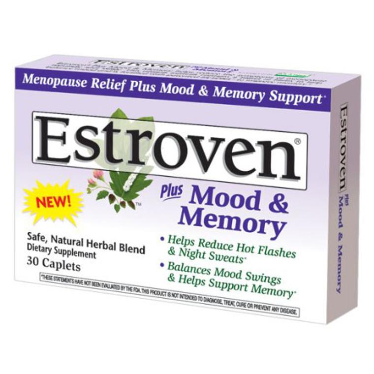 Estroven Plus Mood And Memory Ntural Herbal Blend Caplets - 30 Ea