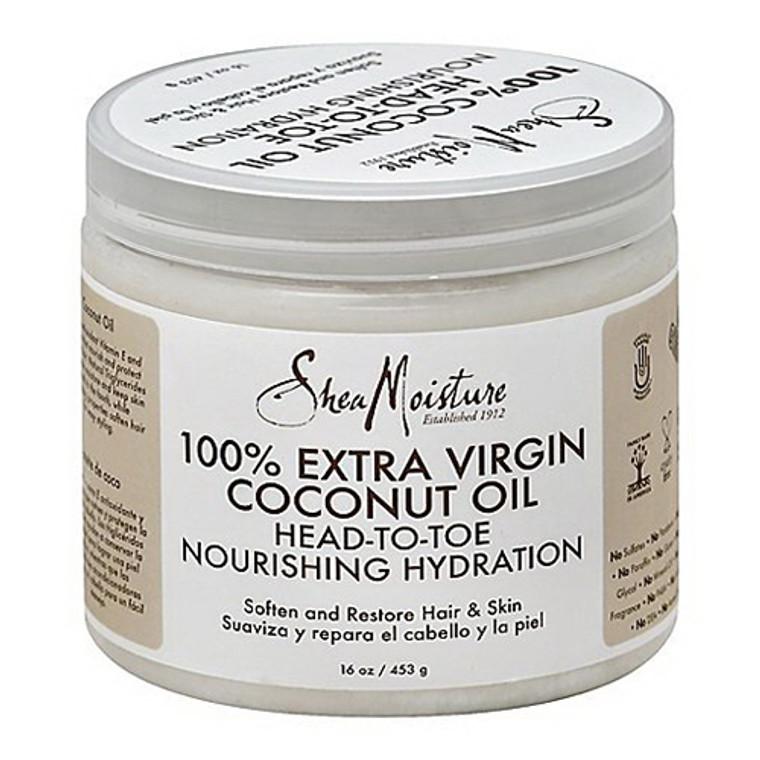 Shea Moisture 100% Extra Virgin Coconut Oil Head-To-Toe Nourishing Hydration Cream - 16 oz
