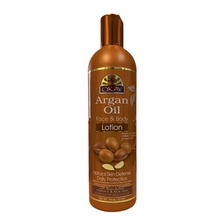 Okay 100% Argan Oil Lotion Face and Body Lotion, 16 Oz