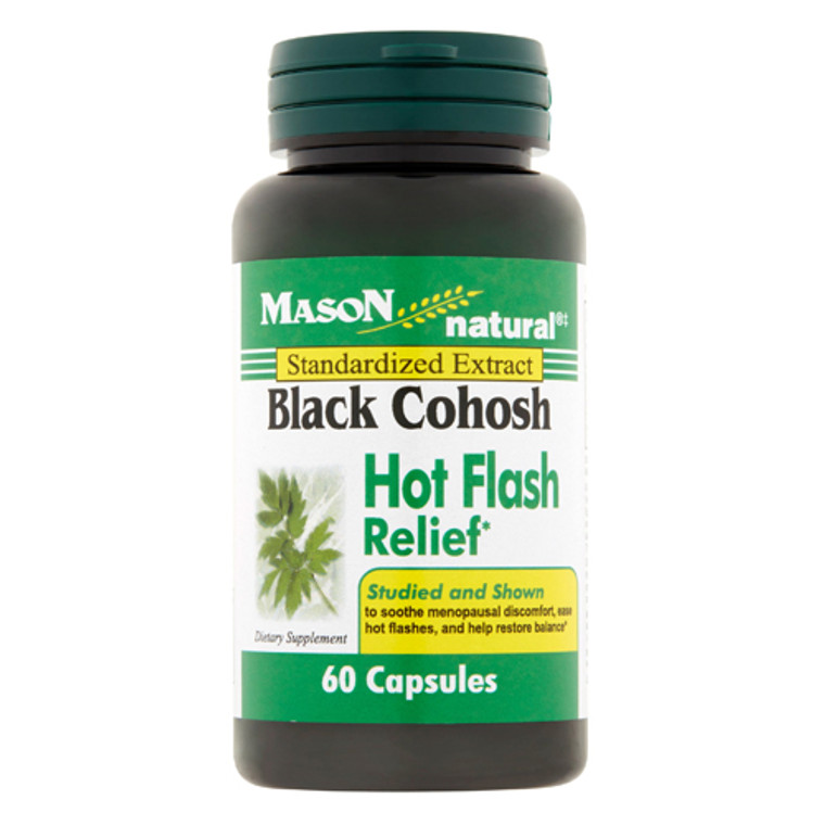 Mason Natural 40 Mg Black Cohosh Hot Flash Relief Capsules - 60 Ea