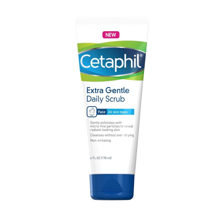 Cetaphil Extra Gentle Daily Face Scrub For All Skin Types, 6 Oz