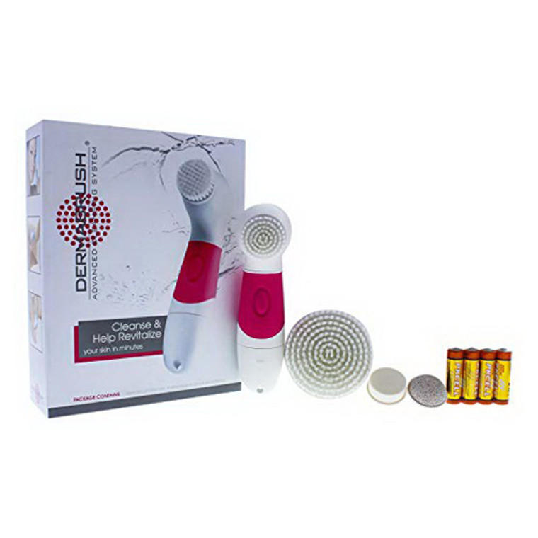 Dermabrush Advanced Cleansing System, Cleanses and Revitalize Your Skin in Minutes, Purple, 1 Ea